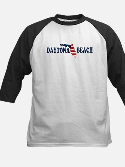 Daytona Beach - Map Design. Kids Baseball Jersey