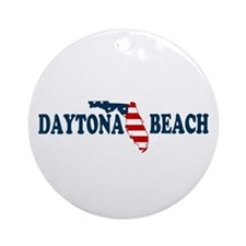 Daytona Beach - Map Design. Ornament (Round)