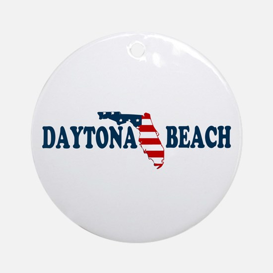 Daytona Beach - Map Design. Ornament (Round)