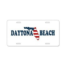 Daytona Beach - Map Design. Aluminum License Plate