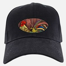 Rooster by the Barn Baseball Hat