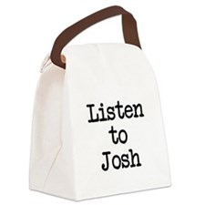 Listen to Josh Canvas Lunch Bag