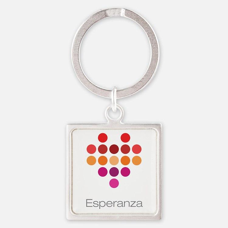 I Heart Esperanza Square Keychain
