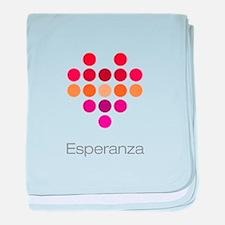 I Heart Esperanza baby blanket