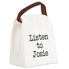 Listen to Josie Canvas Lunch Bag