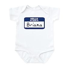 Hello: Briana Infant Bodysuit