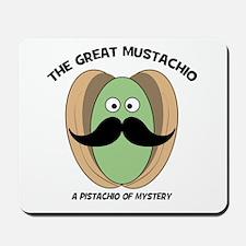 The Great Mustachio Mystery Pistachio Mousepad