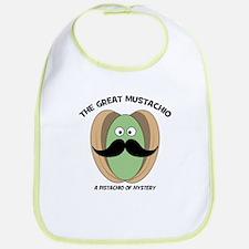 The Great Mustachio Mystery Pistachio Bib