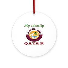 My Identity Qatar Ornament (Round)