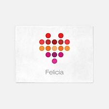 I Heart Felicia 5'x7'Area Rug
