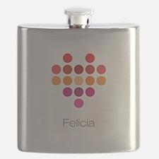 I Heart Felicia Flask