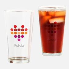 I Heart Felicia Drinking Glass