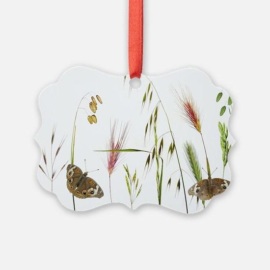 Butterflies in Grass Ornament