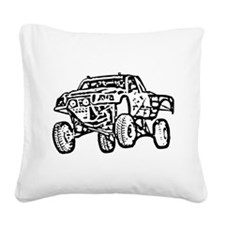 Jump Truck Square Canvas Pillow