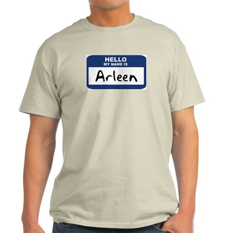 Hello: Arleen Ash Grey T-Shirt
