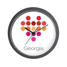 I Heart Georgia Wall Clock
