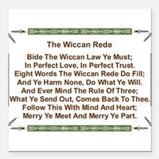 "Balanced Wiccan Rede Square Car Magnet 3"" x 3"""