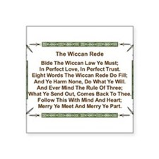 "Balanced Wiccan Rede Square Sticker 3"" x 3"""