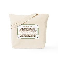 Balanced Wiccan Rede Tote Bag