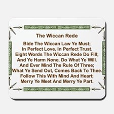Balanced Wiccan Rede Mousepad