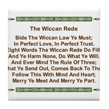 Balanced Wiccan Rede Tile Coaster