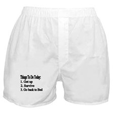 Things to Do Today Boxer Shorts