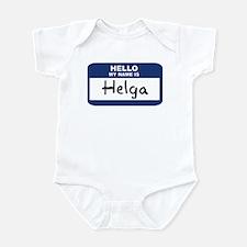 Hello: Helga Infant Bodysuit