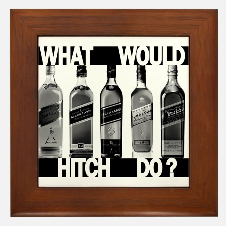 What Would Hitch Do? Framed Tile
