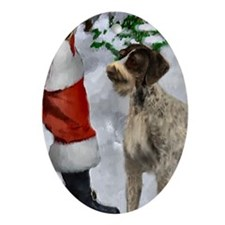 German Wirehaired Pointer Ornament (Oval)