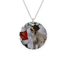 German Wirehaired Pointer Necklace Circle Charm