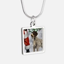 German Wirehaired Pointer Silver Square Necklace