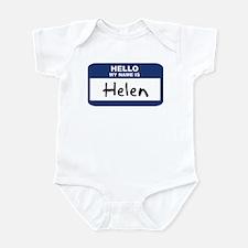 Hello: Helen Infant Bodysuit