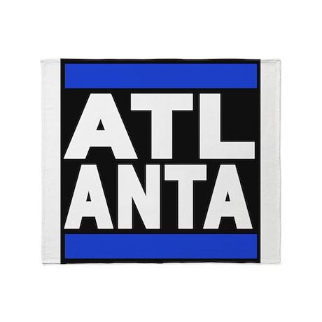 atlanta blue Throw Blanket