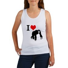 I Love Chimpanzees Tank Top