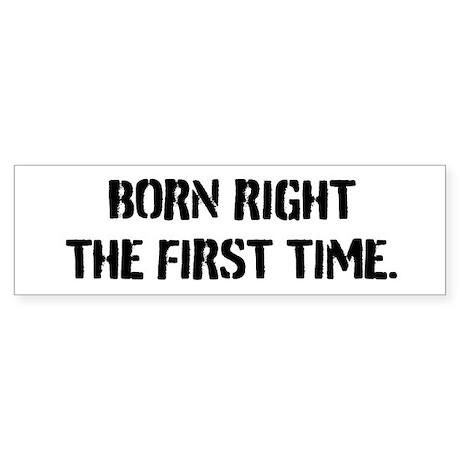 Born Right Sticker (Bumper)
