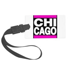 chicago pink Luggage Tag