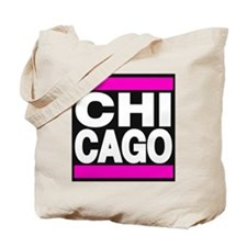 chicago pink Tote Bag