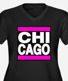 chicago pink Plus Size T-Shirt