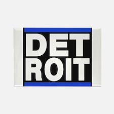 detroit blue Rectangle Magnet