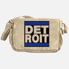 detroit blue Messenger Bag