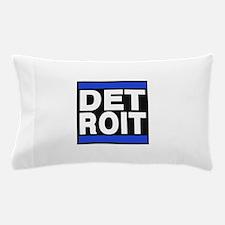 detroit blue Pillow Case