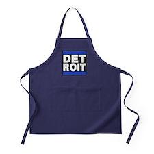 detroit blue Apron (dark)
