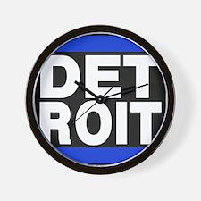 detroit blue Wall Clock