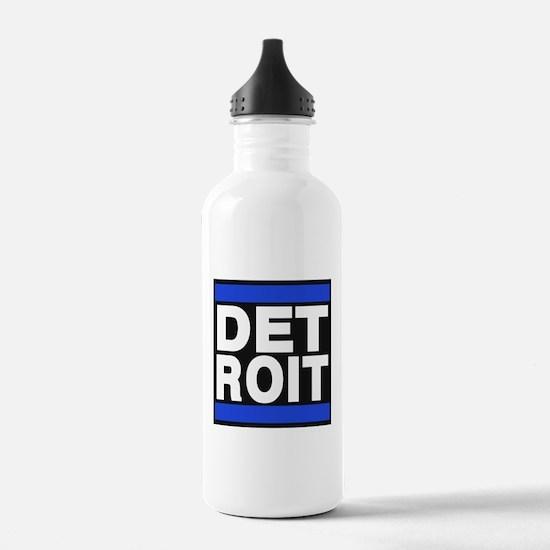 detroit blue Water Bottle