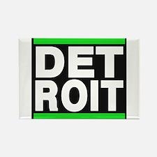 detroit green Rectangle Magnet