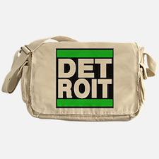 detroit green Messenger Bag