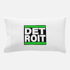 detroit green Pillow Case