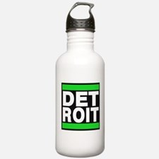 detroit green Water Bottle