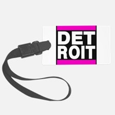 detroit pink Luggage Tag