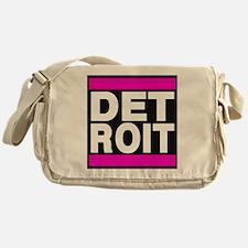 detroit pink Messenger Bag